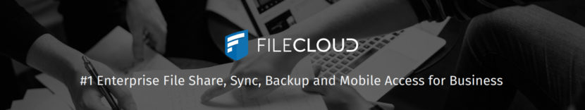 FileCloud Logo and caption - #1 Enterprise file sharing, sync, backup, and mobile access for business