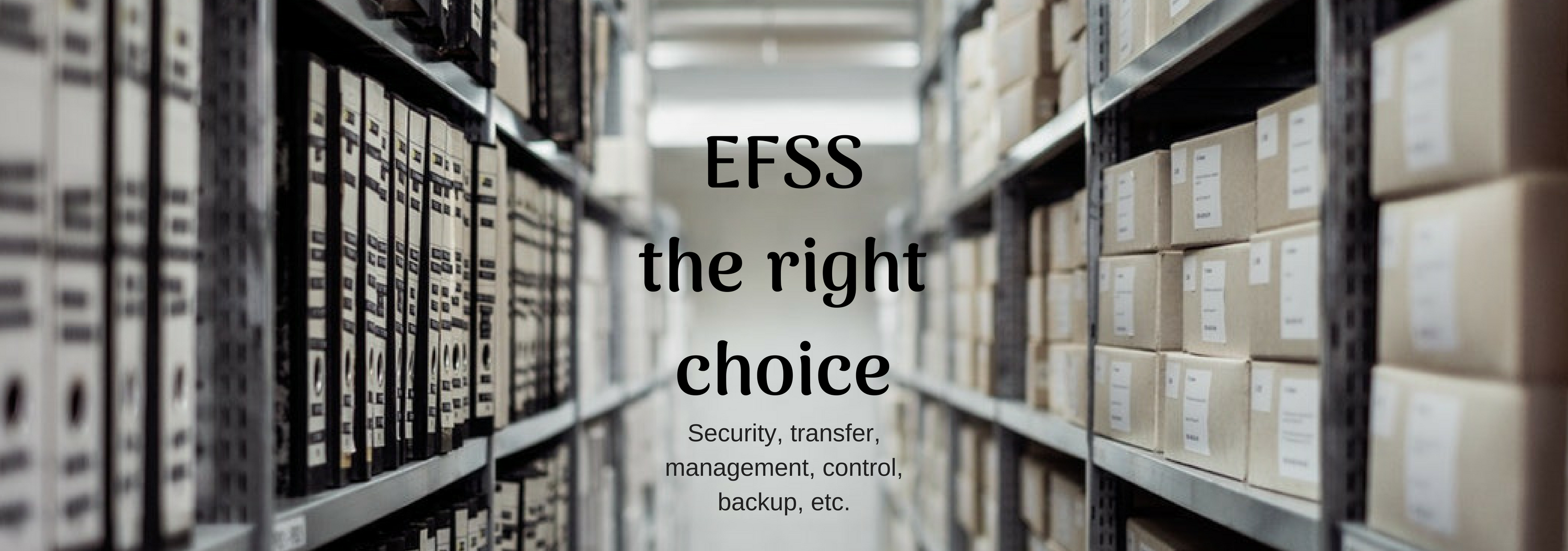 EFSS is the best choice for data security