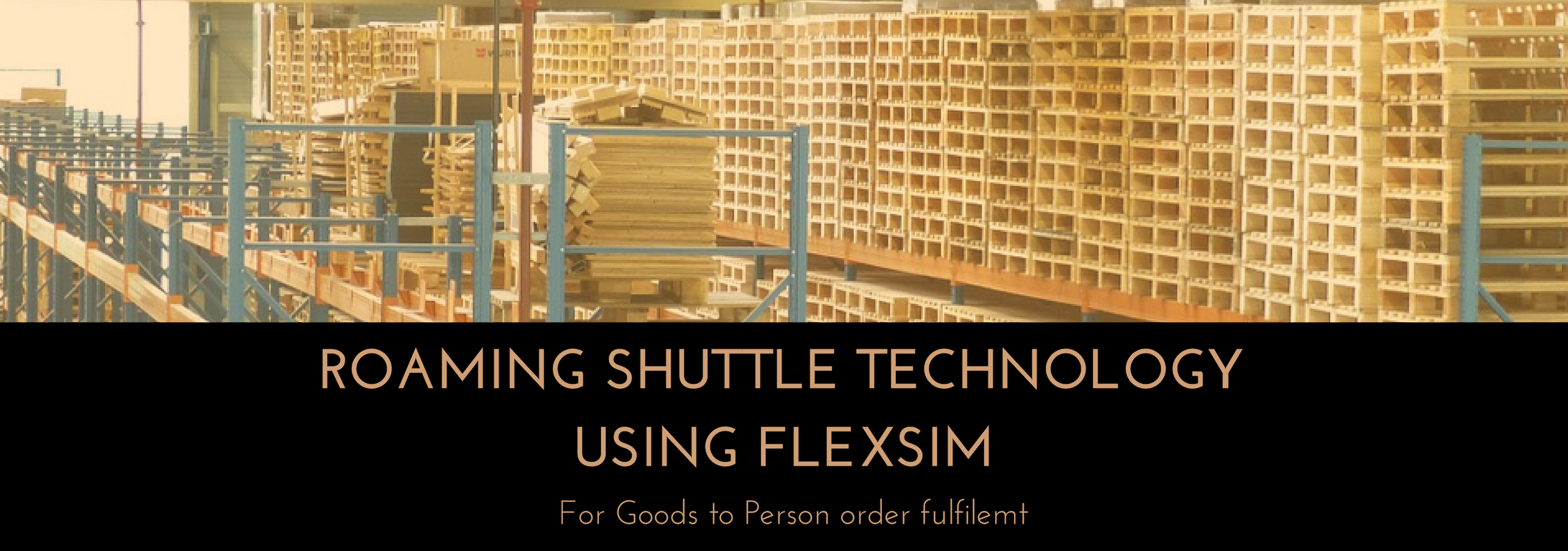 Roaming shuttle technology using FlexSim