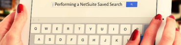 Performing a NetSuite saved search