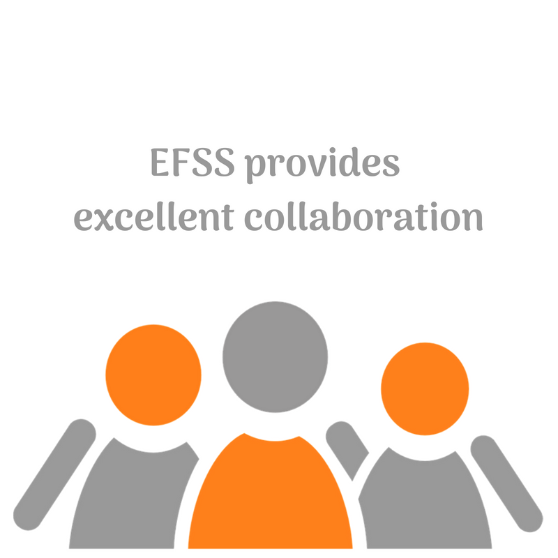 EFSS provides excellent collaboration