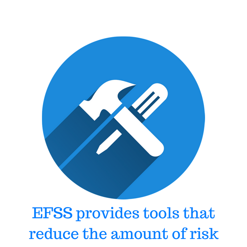 EFSS provides tools that ensure data security