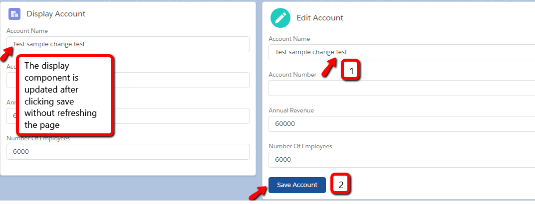 Lightning Data Service: update on changes you make and display component