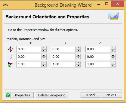 FlexSim Settings: Background Orientation and Properties