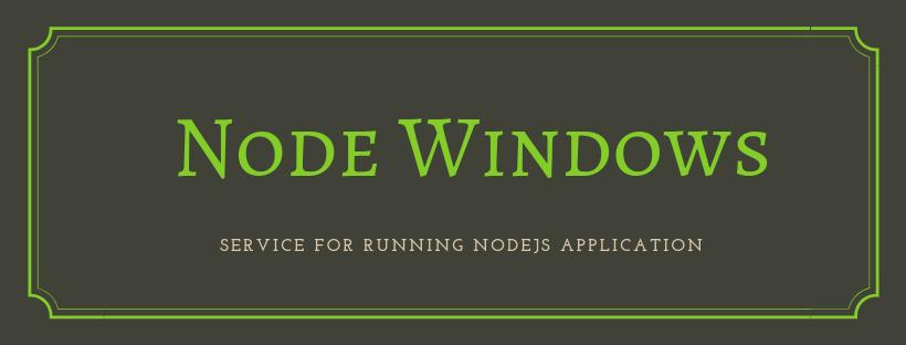 node windows service